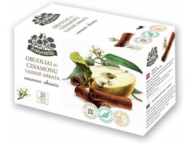 Vaisinė arbata su obuoliais ir cinamonu - Žolynėlis, 50 g