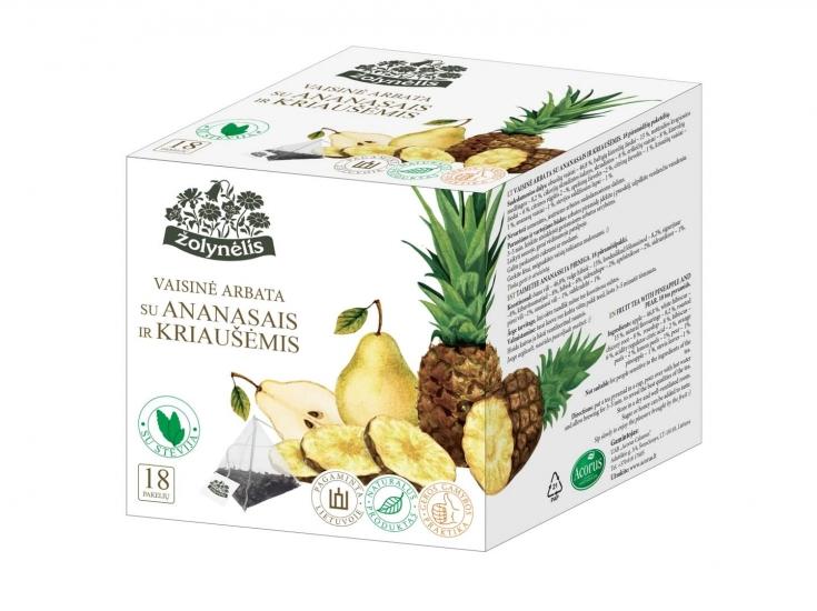 Vaisinė arbata su ananasais ir kriaušėmis - Žolynėlis, 27 g