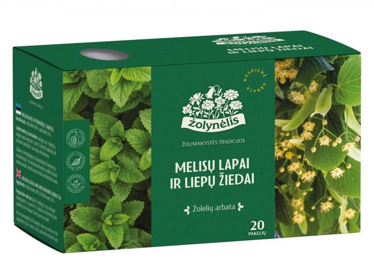 Žolelių arbata Melisų lapai ir liepų žiedai - Žolynėlis, 24g