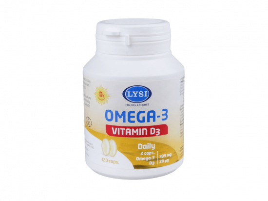 Žuvų taukai - Lysi Omega 3 + D3, kapsulės