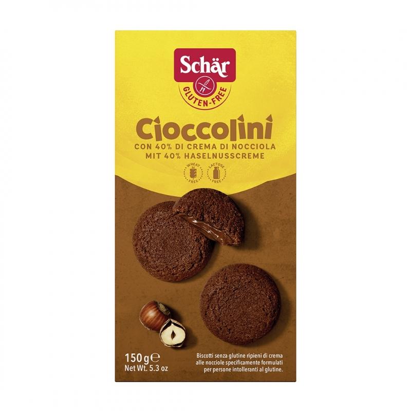 Sausainiai su šokolado įdaru - Schar Cioccolini, 150 g