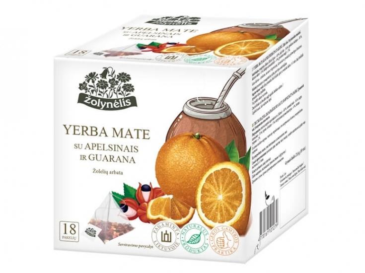 Žolelių arbata Yerba Mate su apelsinais ir guarana -Žolynėlis, 21,6 g