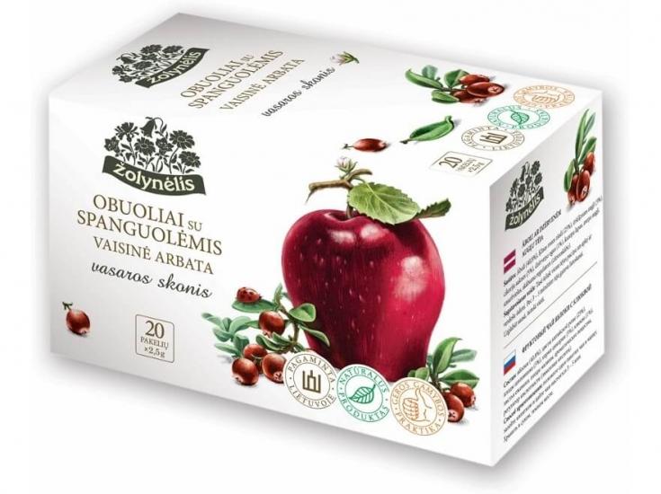 Vaisinė arbata su obuoliais ir spanguolėmis - Žolynėlis, 50 g