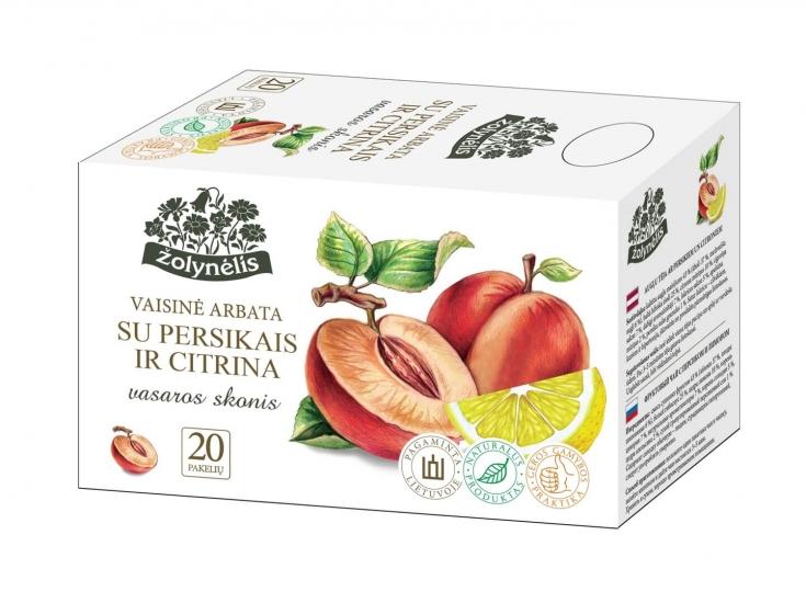 Vaisinė arbata su persikais ir citrina - Žolynėlis, 40 g