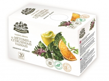 Vaisinė arbata su mėtomis ir citrusiniais vaisiais - Žolynėlis, 50 g
