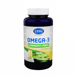 Žuvų taukai - Lysi Omega 3 D3 Immunity Forte, kapsulės