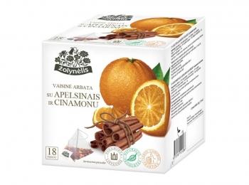 Vaisinė arbata su apelsinais ir cinamonu - Žolynėlis, 36 g