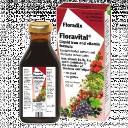 Vitaminai su geležimi - Floradix Floravital, 250ml