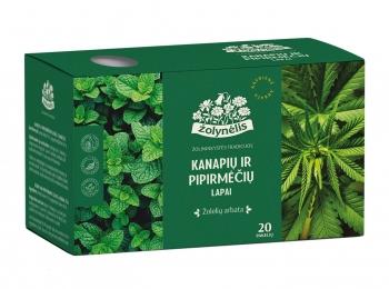 Žolelių arbata Kanapių ir pipirmėčių lapai - Žolynėlis, 30 g